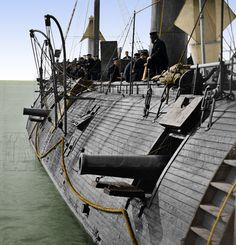 00826 - Federal Ironclad USS GALENA; Effect of Confederate shot, James River, VA 1862 [LC-DIG-cwpbh-00826]