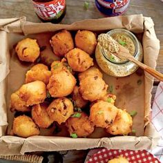 Crispy Andouille Hush Puppies | MyRecipes.com