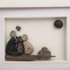 Family dog pebble art by the0HorizonFactory on Etsy