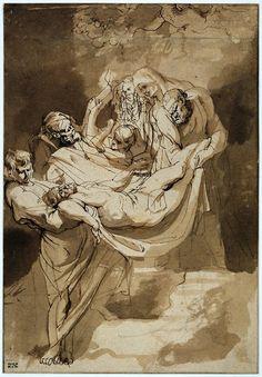 Entombment by Peter Paul Rubens. Circa 1615.