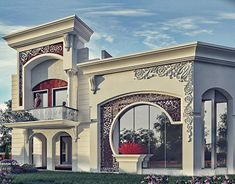 come and design your villa or building or hotel or interior decor or exterior design with us we have fantastic architectural designs and plans and we will make your dream We are professional in our work and our prices are very competitive Classic House Exterior, Classic House Design, Bungalow Exterior, Bungalow House Design, House Front Design, Dream House Exterior, Dream Home Design, Fence Design, Modern House Design