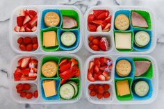 We're all about DIY Lunchables like this one from What Lisa Cooks for healthier, cheaper and more eco-friendly school lunch ideas. Healthy Family Meals, Healthy Kids, Kids Meals, Happy Healthy, Healthy Food, Work Meals, Healthy Eating, Real Food Recipes, Healthy Recipes