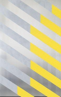 Gary Hume  Double Fashion 2013 Aluminium, aluminium powder, gloss and matt paint