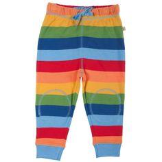 Pantalon de Jogging bébé bio - Rainbow Stripes - frugi