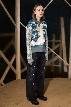 pullover japanese screen inspiration Maison Martin Margiela prefall 15