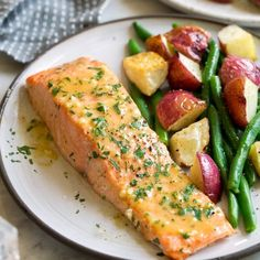 This is the easiest Baked Salmon with a sweet and tangy Buttery Honey Mustard Sauce! This recipe requires minimal effort, ONLY 5 basic ingredients, and This is the easiest Baked Salmon with a sweet and tangy Buttery Honey Mustard Sauce! Salmon Steak Recipes, Fish Recipes, Seafood Recipes, Salmon Marinade Baked, Salmon Sauce, Top Recipes, Honey Mustard Salmon, Honey Mustard Sauce, Healthy Cooking