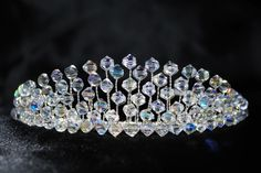 Handmade Swarovski bead bridal tiara (made by me)! Check out my etsy shop for more details and to order. https://www.etsy.com/uk/shop/PureEleganceTiaras?ref=hdr_shop_menu