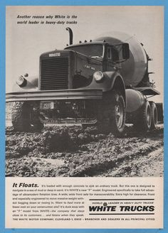 1965 reo tridive cement mixer truck brochure wt4275 for White motor company trucks
