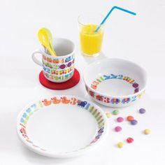 #design3000 Kindergeschirr 1,2,3 von byGraziela - 3teiliges Set aus Porzellan mit buntem Zahlen-Druck
