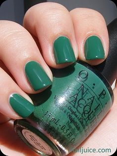 OPI Jade Is The New Black from the Hong Kong collection. I really like this green!
