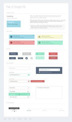 Free #Flat #UI Design Kit by Ryan Bales