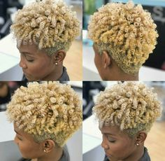 Tapered Natural Hair, Pelo Natural, Short Grey Hair, Short Hair Cuts, Black Hair, Black Girls Hairstyles, Pretty Hairstyles, Blonde Twa, Curly Hair Styles