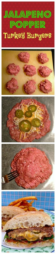 Jalapeño Popper Turkey Burgers - (Try it with pickles for a mild version!) via @The Weary Chef