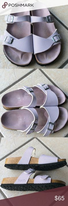 Gorgeous Birkenstock Birki's Violet 37 Excellent condition , classic style by Birkenstock in Violet. Comfy and support your feet. Enjoy your day with them. Birkenstock Shoes Sandals