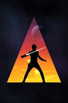 amazing Luke Skywalker image. it will be on my t-shirt i suspect