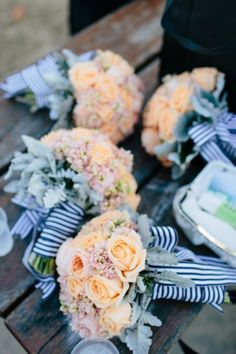 44 Striking Peach And Navy Wedding Ideas | HappyWedd.com