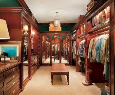 Ralph Lauren's personal dressing room