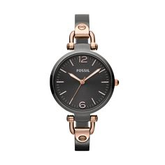 Fossil Georgia Stainless Steel Watch – Smoke and Rose    If fabulousness could be a watch, it would be this one! I would pair it with my FOSSIL rose gold glitzy charm bracelet...I adore this watch!!