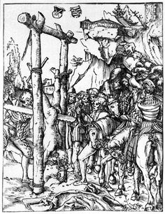 Lucas Cranach the Elder The Martyrdom of Saint Simon woodcut, 1512 Saint Simon, Renaissance, Lucas Cranach, Water Into Wine, Macabre Art, Albrecht Durer, Expositions, Dark Ages, Horror Art