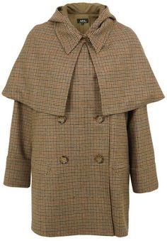 Apc Manteau Sherlock Beige Natural Coat