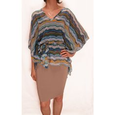 Sheer Batwing Top :: Tops :: Mink :: Mink Women's Clothing via Polyvore