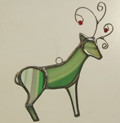 Stained Glass Deer Ornament-looks like a good stocking stuffer? @Chris Thrasher DiNatale