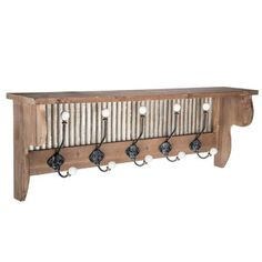 Wood Shelf with Galvanized Metal Back