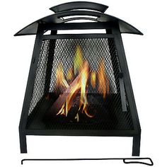 OUTDOOR GARDEN CHIMINEA FIRE PIT PATIO HEATER CHIMENEA CHIMNEY WOOD BURNER