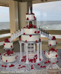 red and white wedding cakes with fountains 1000 images about wedding cake on roses 19103