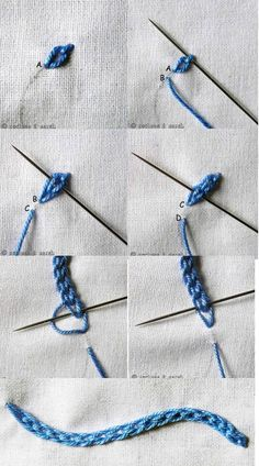 braided chain stitch