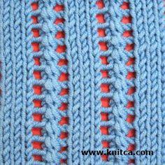 Right side of knitting stitch pattern – Lace 2