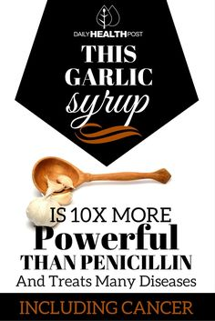 This amazing garlic syrup is something you should always keep on hand. Not only is it practical because its ingredients are inexpensive and easy to come by but it's also simple to make. | https://dailyhealthpost.com/how-to-make-garlic-syrup/