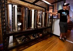 On Friday, Peter Gentry will open what is believed to be the first nano-brewery in the city. His One Barrel Brewing Co. Beer Brewing Kits, Brewing Recipes, Beer Recipes, Coffee Recipes, Homebrew Recipes, Nano Brewery, Home Brewery, Cider Brewery, Brewery Design