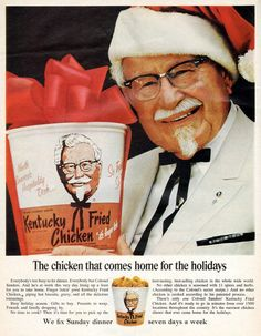 Pair of Vintage Kentucky Fried Chicken Restaurant Glasses
