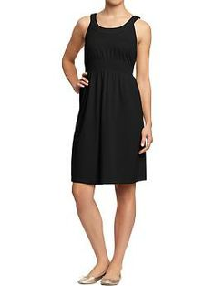 Womens Scoop-Neck Tie-Waist Dresses Something to consider for Bridesmaids.