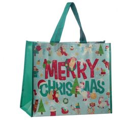 Need a handy, durable and lightweight shopping bag that is practical, strong and looks great?! Then look no further than our woven shopping bag range. Made from strong polypropylene, our range of laminated bags can be used around the house, at work or on the go everyday. They are a great gift with a huge range of designs to suit all tastes. Dimensions: Height 33cm Width 40cm Depth 17cm (approx 13 x 16 x 7 inches) Reusable Shopping Bags, Reusable Bags, Christmas Design, Christmas Shopping, Travel Bags, Great Gifts, Merry, Strong, Suit
