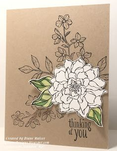 MyDiane Designs: Peaceful Dreams, Peaceful Petals, Stampin' Up!
