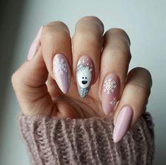 Stylish Gel Nail Art Designs That Are So Perfect for Summer 2019 - Xmas Nails - Chistmas Nails, Cute Christmas Nails, Xmas Nails, Christmas Nail Art Designs, Winter Nail Designs, Holiday Nails, Fun Nails, Xmas Nail Art, Christmas Manicure