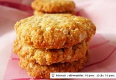 Anzac keksz Healthy Cookie Recipes, Healthy Cookies, Healthy Sweets, Muesli, Biscuits, Muffin, Food And Drink, Treats, Baking