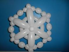 snowflake balloons decorations - Google Search