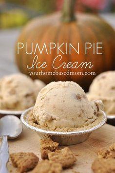 pumpkin pie ice cream // get in mah belly!