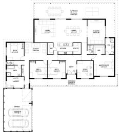 Floor Plan Friday Big traditional country house is part of Country home Verandah - Hi there! Thanks for stopping by today I found this big traditional country style home which you may like the look of I couldn't find New House Plans, Dream House Plans, House Floor Plans, Bedroom Floor Plans, The Plan, How To Plan, Casas California, Home Design Floor Plans, Country Style Homes
