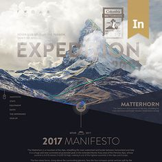 다음 @Behance 프로젝트 확인: \u201cColumbia Clothing X Matterhorn - Expedition 2017\u201d https://www.behance.net/gallery/50401519/Columbia-Clothing-X-Matterhorn-Expedition-2017