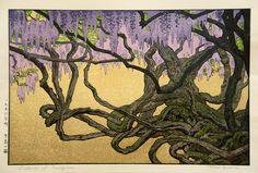 Ukiyo-e Toshi Yoshida Wisteria at Ushijima | Flickr - Photo Sharing!