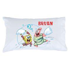 SpongeBob SquarePants Pillow Fight Pillowcase - Bedding & Blankets - Decor | Tv's Toy Box