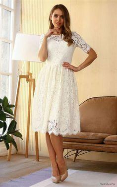 91 mejores imágenes de Vestidos De Encaje Blanco 0722f04dd28a
