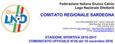 SCRIVOQUANDOVOGLIO: CALCIOSARDO:COMUNICATO UFFICIALE NUMERO 26 (10/11/...