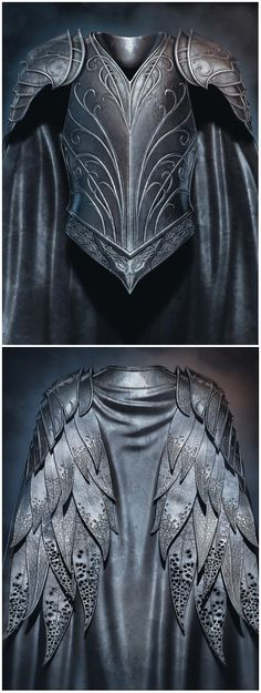 "Thranduil's ""leather feather"" armour from ""The. - armour cosplay feather Leather - Thranduil's ""leather feather"" armour from ""The… – Armadura Medieval, Fantasy Armor, Medieval Fantasy, Medieval Gown, Medieval Armor, Larp, Leather Armor, Elvish, The Hobbit"