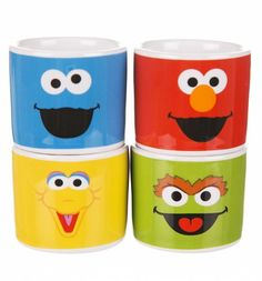 #SesameStreet Set Of Four Character Egg Cups xoxo
