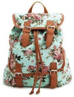 POPSUGAR Shopping: Charlotte RusseFloral Canvas Backpack